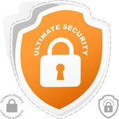 Ultimate security. Sticker set. — Stock Vector