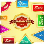Vector great collection of sale signs — Stock Vector