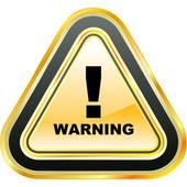Warning sign. — Stock Vector