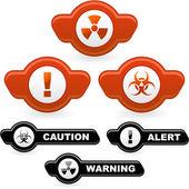 Warning element set. — Stock Vector