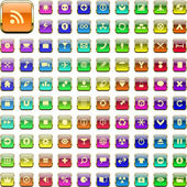 Vector great collection of web buttons. — Stock Vector