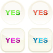 Yes icon. Vector beautiful icon set. — Stock Vector