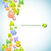 Abstract Vector Hintergrund mit Buchstaben. — Stockvektor