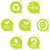Conjunto de etiquetas de eco amigable, natural y orgánico. — Vector de stock