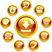 Vektorové ikony pro web. — Stock vektor