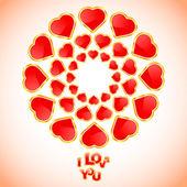 Eu te amo. mensagem de amor. — Vetorial Stock