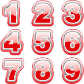 Number collection. Vector set. — Stock Vector