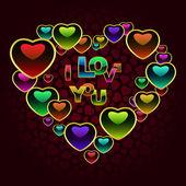 Mensaje de amor. ilustración vectorial. — Vector de stock