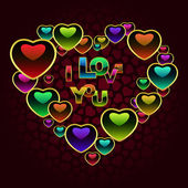 Láska zpráva. vektorové ilustrace. — Stock vektor