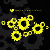 Vector fondo de engranaje. ilustración abstracta. — Vector de stock