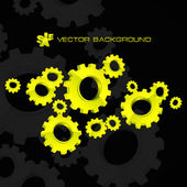 Vector gear background. Abstract illustration. — ストックベクタ