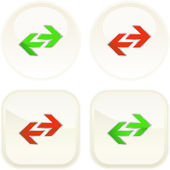Load buttons. Vector set for web. — 图库矢量图片