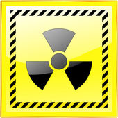 Radioactive sign. Vector illustration. — Stock Vector