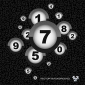 Abstract background with numbers. — Stock Vector