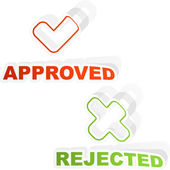 Approved and rejected icon set. — Stock Vector