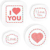 I love you. Love message. — Stock Vector