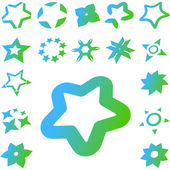 Stars. Set of original vector icons. — Stock Vector