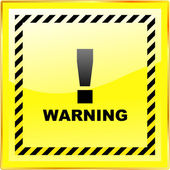 Warning sign. Vector template. — Vector de stock