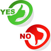 Yes and No icon. Vector set. — Stock Vector