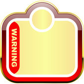 Warning vector banner. Vector template. — Stock Vector