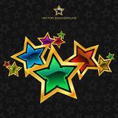 абстрактный фон с звездами. — Cтоковый вектор