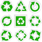 Recycle symbol. Vector set. — Stock Vector