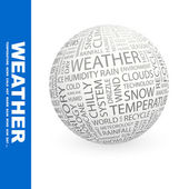 WEATHER. Globe with different association terms. — Stock Vector