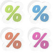 Button set with percent sign — Stock Vector