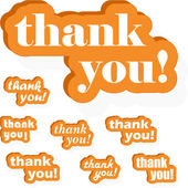 THANK YOU! — Stock Vector