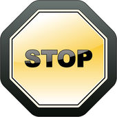 STOP. Vector icon for web. — Stock Vector