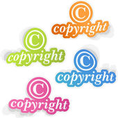 COPYRIGHT. Vector sticker set for sale. — Stock Vector