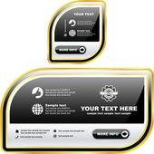 Banner vector establecido para la venta. — Vector de stock