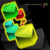 Abstrato com caixas coloridas — Vetorial Stock
