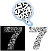 Seven. Number signs. — Stock Vector