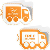 Free delivery elements for sale — Stock Vector