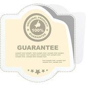 Etiqueta de garantia do vetor. — Vetorial Stock