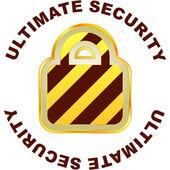 Padlock. Ultimate security. — Stock Vector