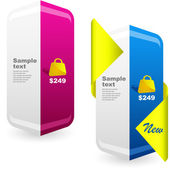 Vector banner set for sale — Stockvector