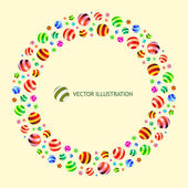 Abstract background with circle elements. — Stock Vector