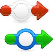 Arrows for web. Vector illustration. — Stock Vector