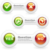 Yes and No elements. — Stock Vector