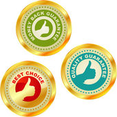 Set of best choice labels. Vector set. — Stock Vector
