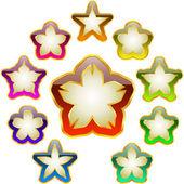 Star collection. Vector set. — Stock Vector
