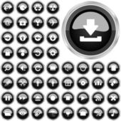 Vector beautiful icon set — Stock Vector