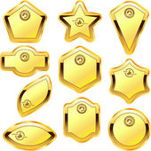 Vector guarantee label set. Gold collection. — Stock Vector