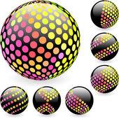 Multicolored globe illustration. — Stock Vector