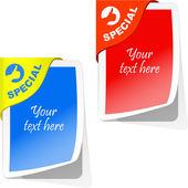 Sticker. Vector template for design. — Stock Vector