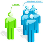 Team business concept. Vector illustration. — Stock Vector
