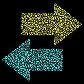 Un conjunto de vectores de flechas útiles. — Vector de stock