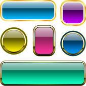 Varicoloured button set. — Stock Vector